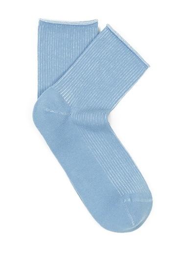 Mavi Mavi Soket Çorap Mavi